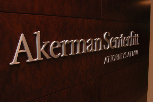 Akerman Senterfitt Brushed Stainless