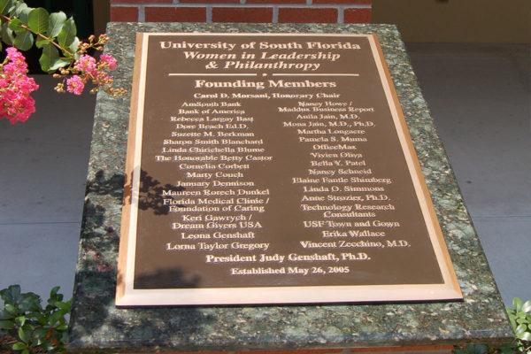 Cast Bronze Plaque_USF Tampa