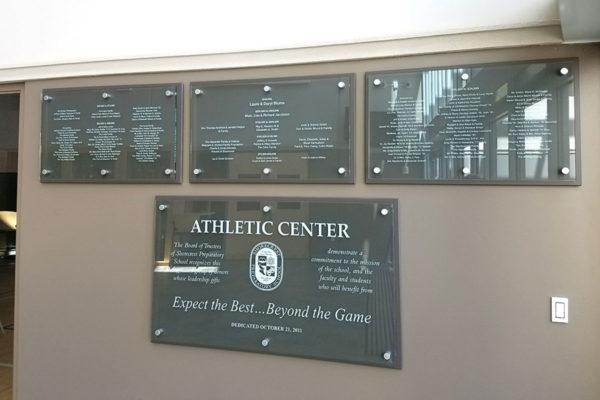 Donor Recognition Sign_Athletic Center_St PetersburgFL