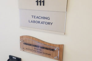 Donor Recognition Sign_Laboratory Donation