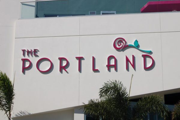 Exterior_Fabricated Aluminum Letters and Logo_The Portland_St PetersburgFL