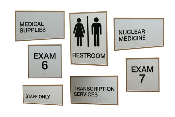 Interior Sign System_Designer Series_Zinc Etched_