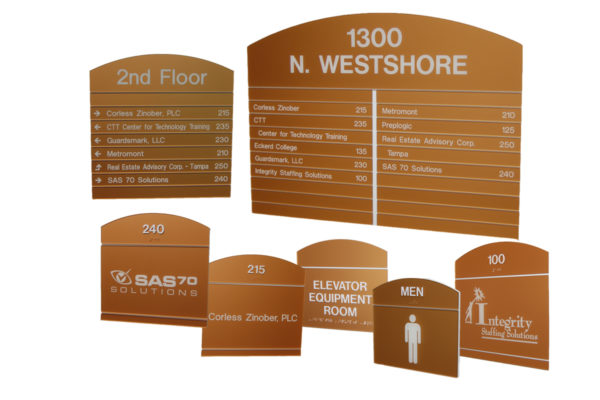 Interior Sign System_Dome Series_1300 Westshore Bldg