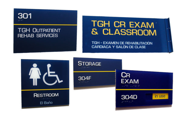 Interior Sign System_Standard Series_Tampa General Hospital